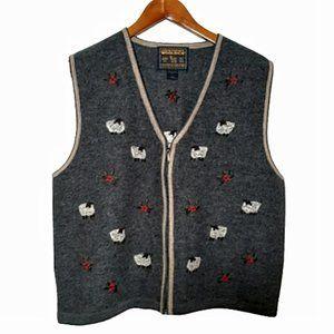 Vintage Woolrich Wool Sheep Vest L